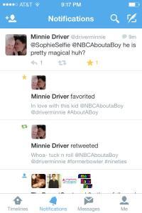 Recent Tweet Favorited by Minnie
