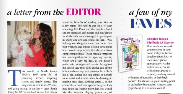 June Issue of South Jersey Mom Mag ~ Chosen Fav