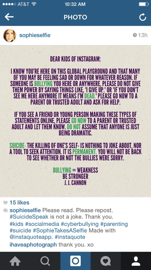 Dear Kids of Instagram