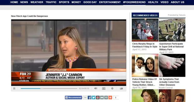 April 16, 2015 - J. J. Cannon on FOX29 Good Day Philadelphia