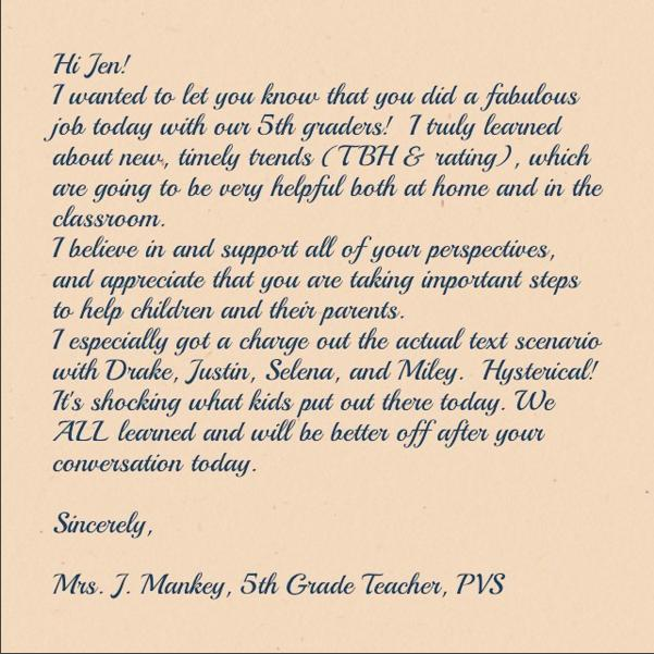 JJ Cannon Letter from Mrs. Mankey